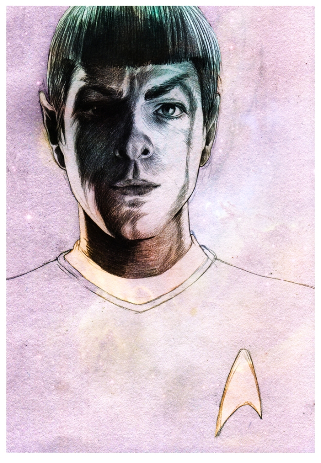 spock in pink and purple