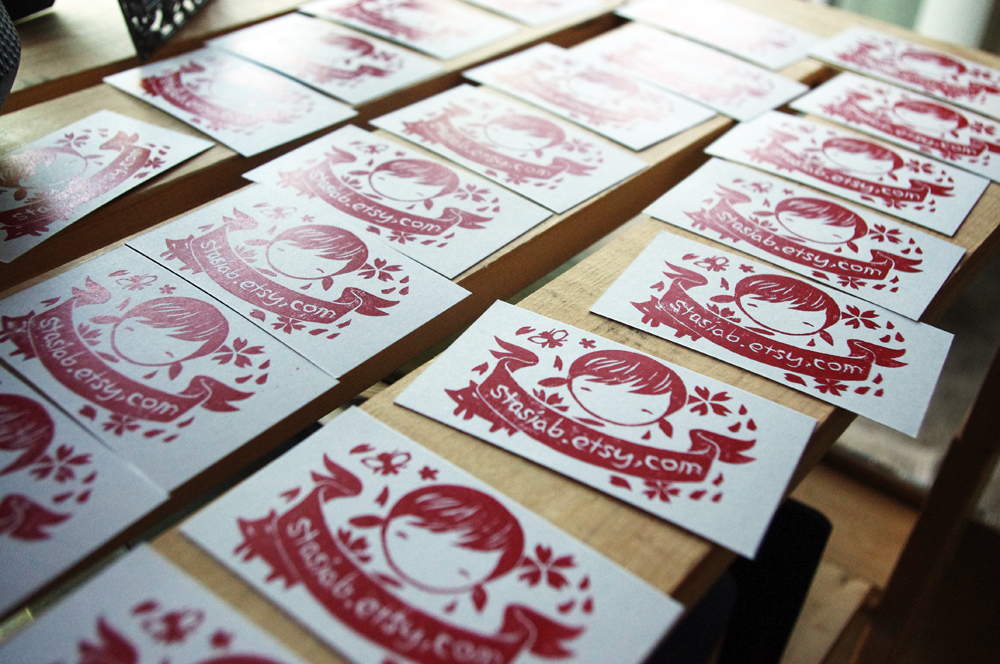 Diy business cards stasias studio oh reheart Images