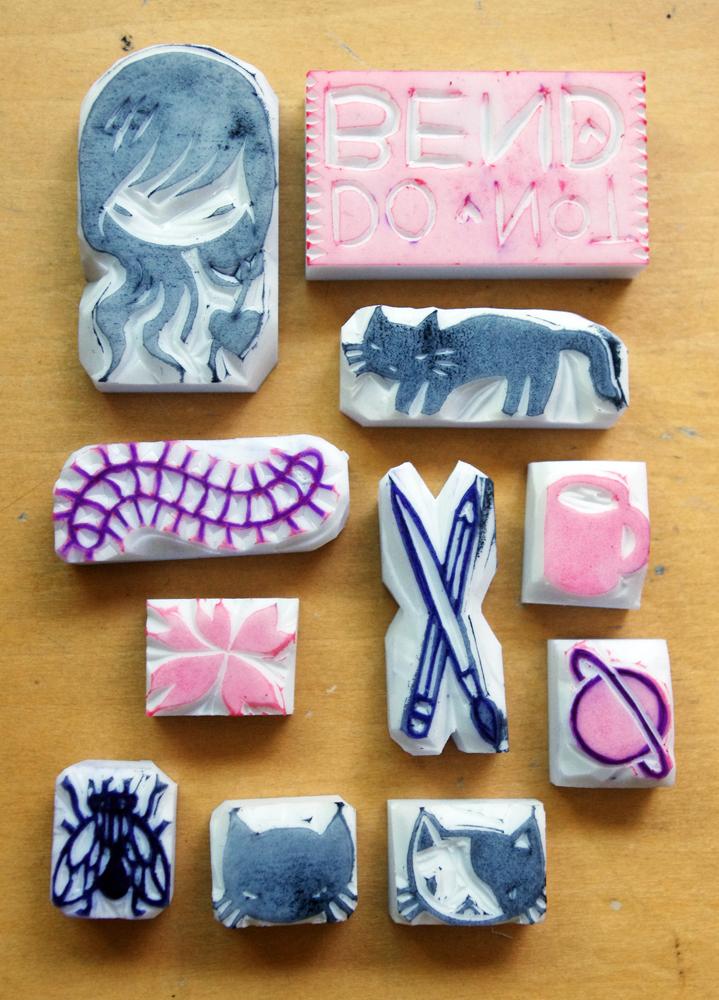 Eraser stamps stasia s studio