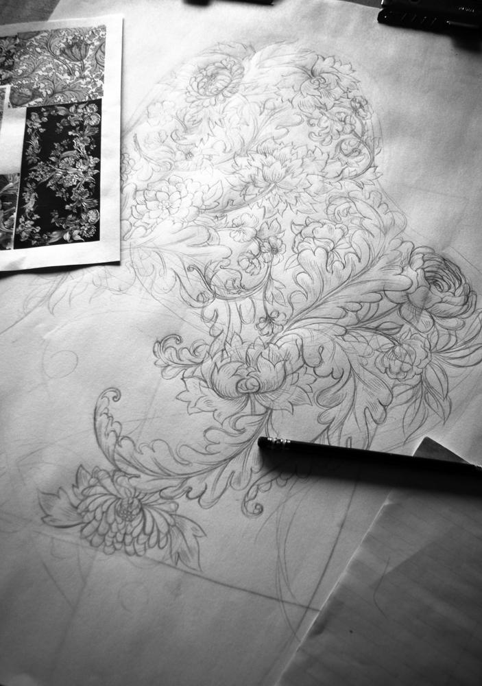 Tattoo Sleeve Drawings Designs: 3/4 Tattoo Sleeve Design!