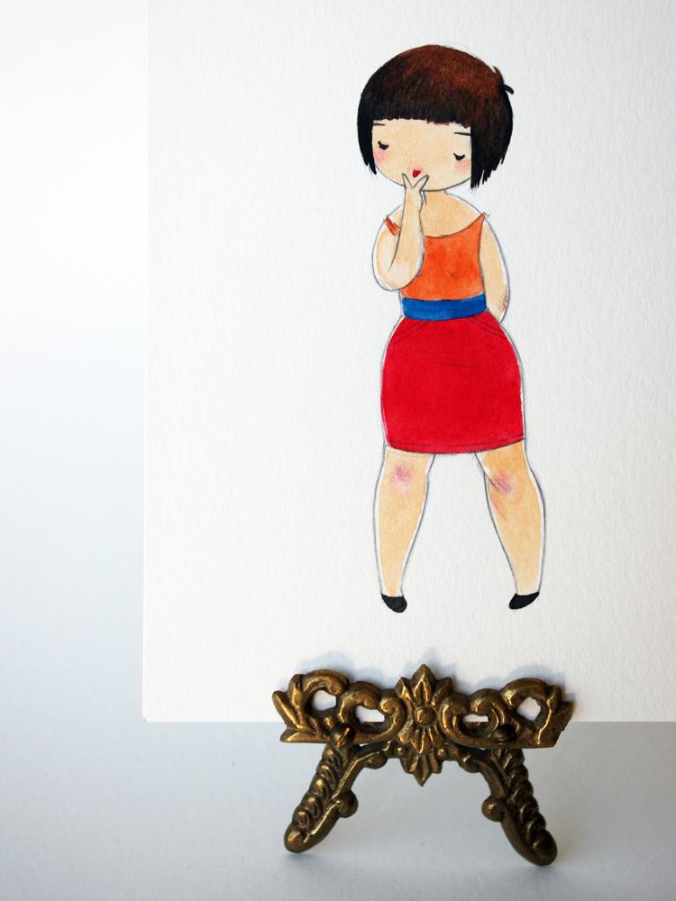 Cartoon girls mooning