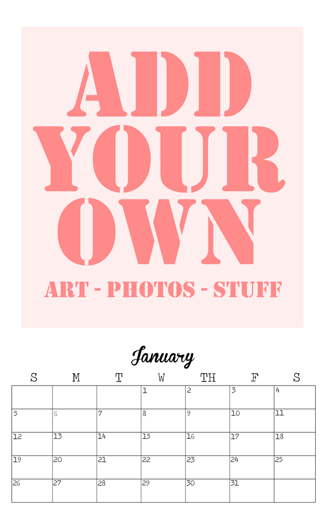 Diy Calendar Template : Burlesque pin up calendar plus free diy download