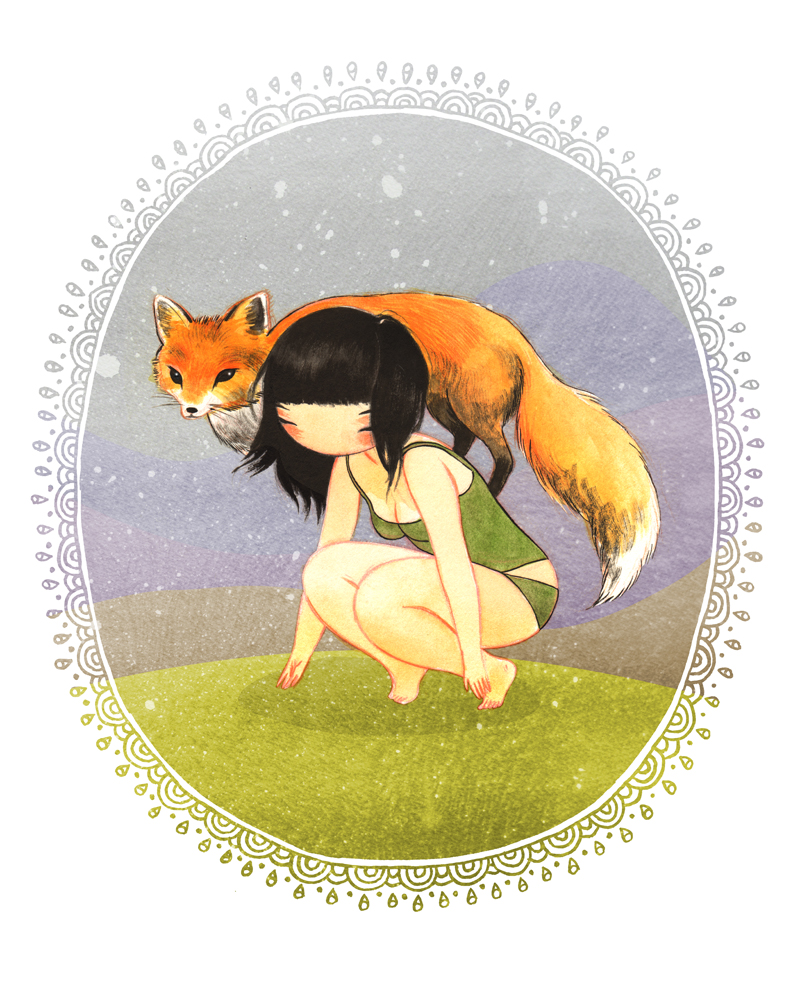 Fox Girl Illustration Stasia S Studio
